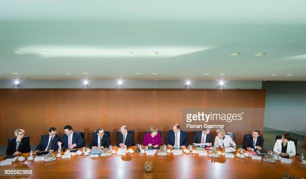 German Education Minister Anja Karliczek German Development Minister Gerd Mueller German Minister of Work and Social Issues Hubertus Heil German...