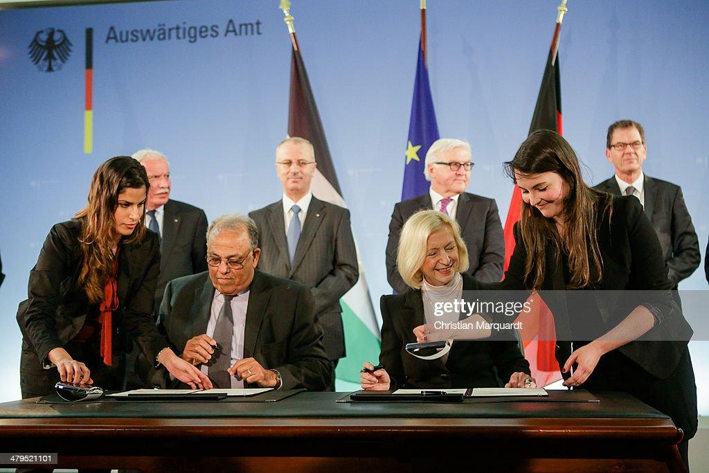 Steinmeier Meets With Palestinian Prime Minister Hamdallah