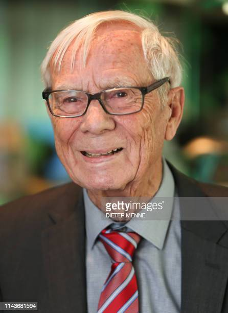 German electrical engineer Rainer Mallebrein poses on May 14 2019 in Paderborn northwestern Germany Mallebrein gave a ballbased computer mouse...
