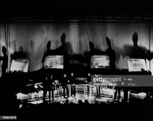 German electronic group Kraftwerk perform at the Santa Monica Civic Auditorium on July 30 1981 in Santa Monica California