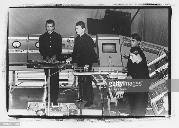 German electronic music group Kraftwerk perform at The Ritz in New York City in 1981