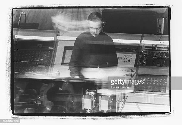German electronic music group Kraftwerk perform at The Ritz in New York City in 1981