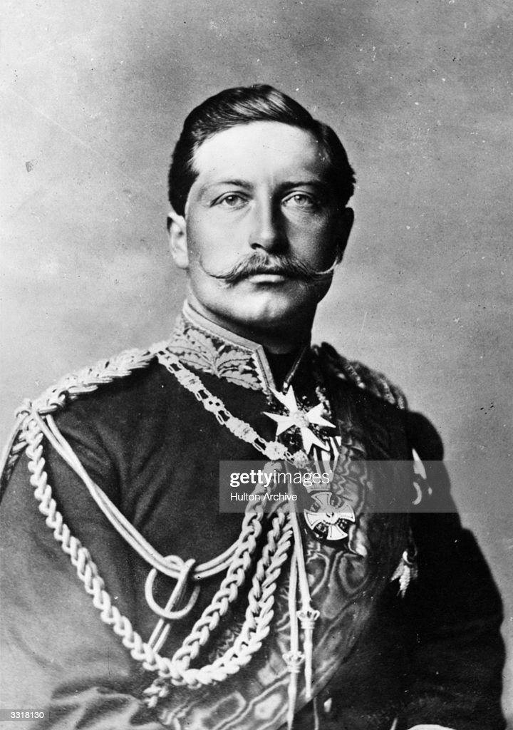 German emperor and king of Prussia William II (1859 - 1941), or Wilhelm II, who reigned from 1888 to 1918.
