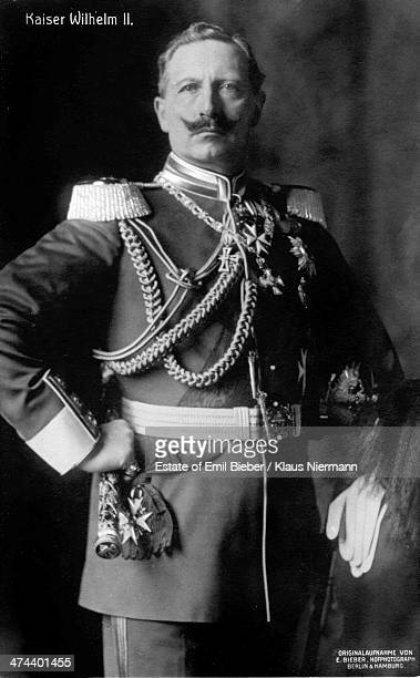 German emperor Kaiser Wilhelm II of Germany in military uniform circa 1900 Photo by Estate of Emil Bieber/Klaus Niermann/Getty Images