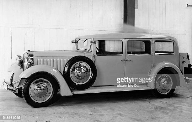 German Empire car 'Adler Standard 8' 15/80 hp 8cylinder Pullmann limousine with body by Walter Gropius Photographer Zander Labisch Published by 'Die...
