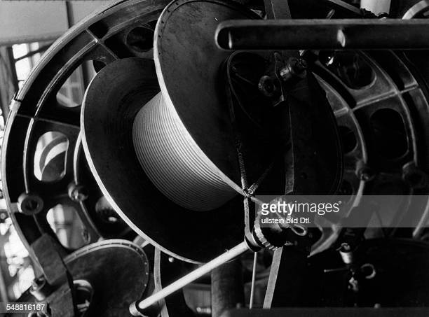 German Empire Free State Prussia Brandenburg Province Berlin AEG Cable manufacturing plant ' Oberspree ' paper isolated cable Photographer Malina...
