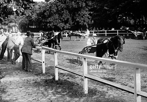 German Empire Free State Prussia Brandenburg Province Berlin Harness racing track Ruhleben Photographer Hans Henschke Published by 'Berliner...