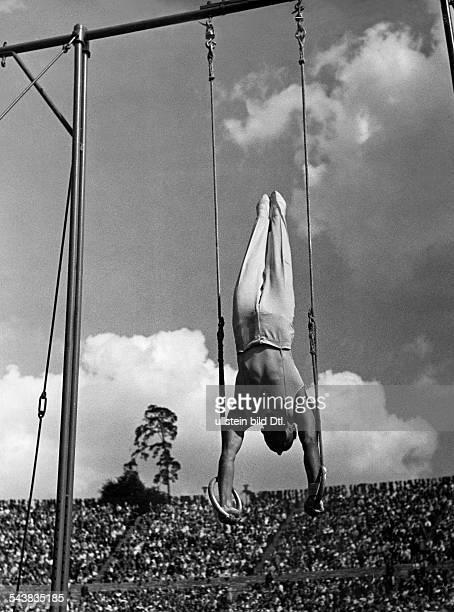 German Empire Free State Prussia Brandenburg Province Berlin Mack Eugen Sportsman gymnast Switzerland *during the Olympic Games in Berlin performing...