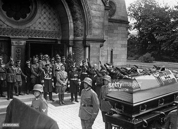 German Empire Free State Prussia Brandenburg Province Berlin Chancellor of the Third Reich Adolf Hitler honour the dead admiral Ludwig von Schroeder...