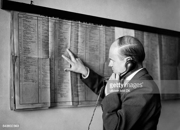 German Empire Free State Prussia Brandenburg Province Berlin Radio station ' Reichssender Berlin ' Program information on the telephone Photographer...