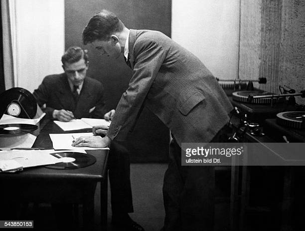 German Empire Free State Prussia Brandenburg Province Berlin Radio station ' Reichssender Berlin ' Engineers in the archive for records Photographer...