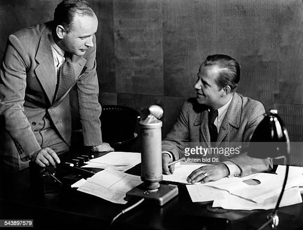 German Empire Free State Prussia Brandenburg Province Berlin Radio station ' Grossdeutscher Rundfunk ' Editor Dr Anft and his assistant Hans Frantzke...
