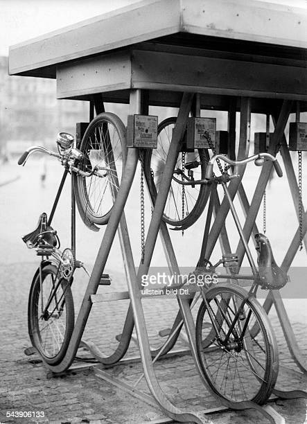 German Empire Free State Prussia Brandenburg Province Berlin security automat for bicycles Photographer Ullmann Published by 'Hier Berlin'...
