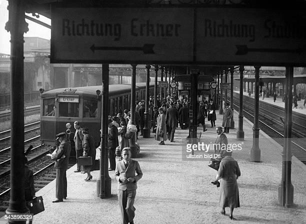German Empire Free State Prussia Brandenburg Province Berlin suburban railway station 'Ostkreuz' Photographer Ullmann Published by 'Hier Berlin'...