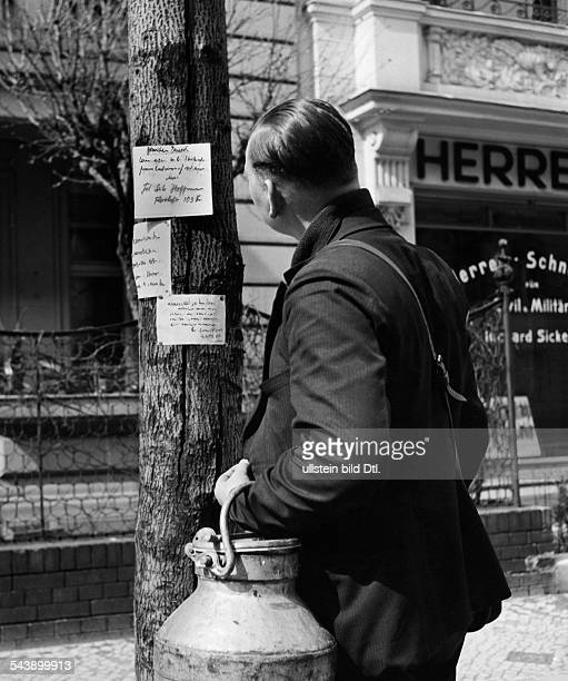 German Empire Free State Prussia Brandenburg Province Berlin the milkman is reading the messages on a tree Photographer Peter Weller Published by...