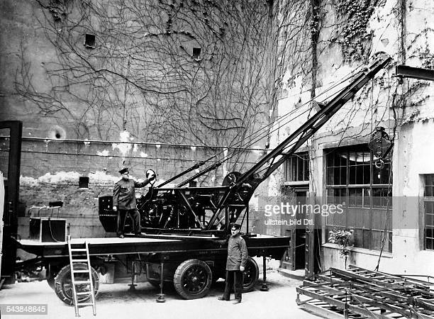 German Empire Free State Prussia Brandenburg Province Berlin the crane of the Berlin Fire Department Photographer Atelier Balassa Published by...