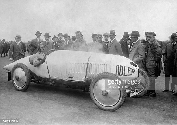 German Empire Free State Prussia Brandenburg Provinz Berlin AVUS car racing the Adler racing car 18/45 hp with the driver Alfred Koellner...