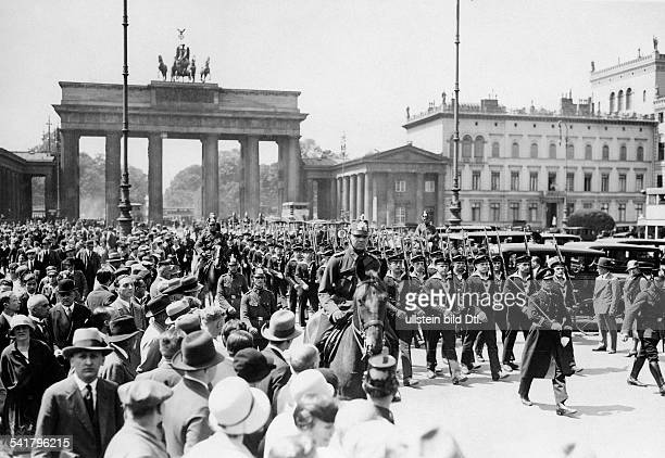German Empire Free State Prussia Brandenburg Provinz Berlin Commemoration of the Battle of Jutland in Berlin Parade of the Navy of the Reichswehr at...