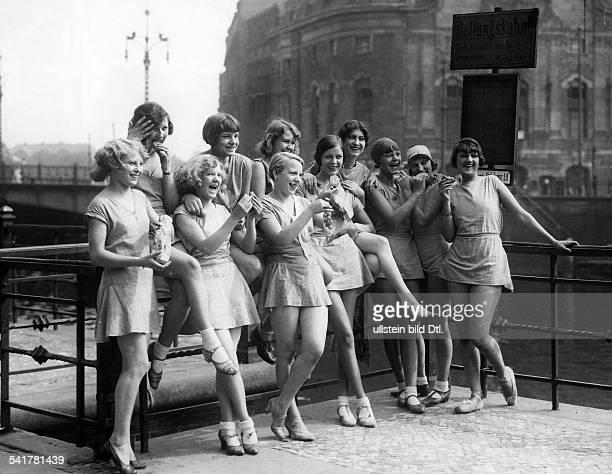 German Empire Free State Prussia Brandenburg Provinz Berlin Showgirls at the Schiffbauerdamm Photographer Erich Gorodiski Published by 'Tempo'...