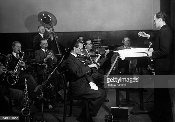 German Empire Free State Prussia East Prussia Province Orchestra Otto Fricke of the radio station ' Reichssender Leipzig ' during a concert...