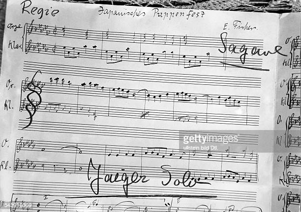 German Empire Free State Prussia East Prussia Province Score of the artists Sagawe and Herbert Jaeger with the title ' Japanisches Puppenfest ' by E...