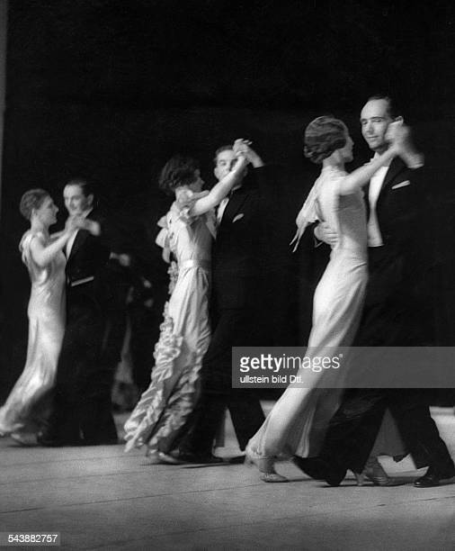 German Empire Free State Prussia Saxony province Stendal Three couples dancing a waltz Photographer Paul Mai Published by 'Berliner Illustrirte...