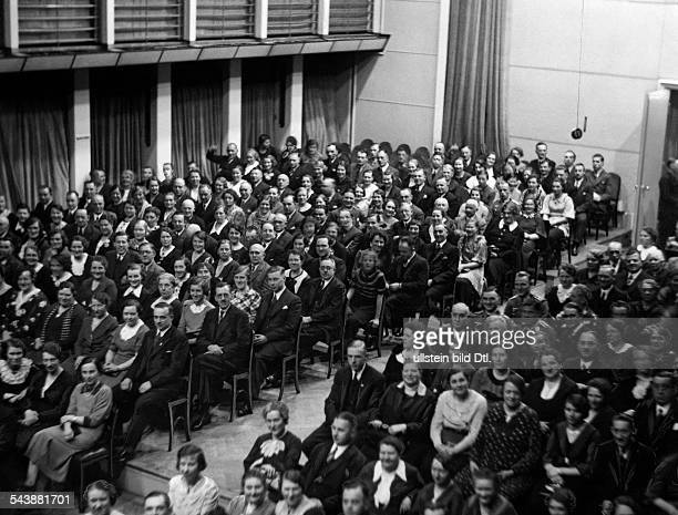 German Empire Hamburg Free and Hanseatic city Outsold evening event at the Great Hall of the Reichssender Hamburg Photographer Curt Ullmann Published...