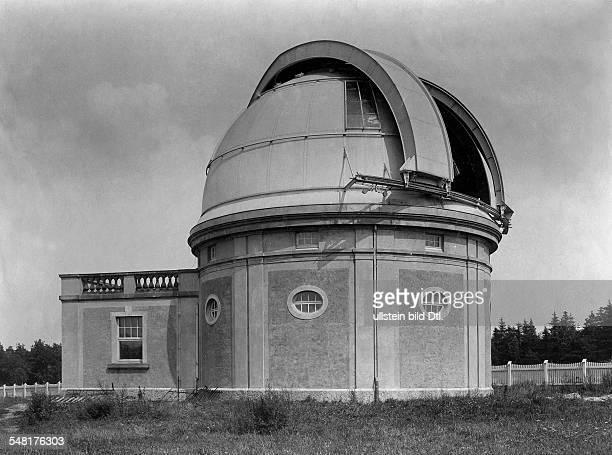 German Empire Hamburg Freie und Hansestadt The Hamburger observatory in Bergedorf Building for the reflecting telescope Photographer Hans Breuer...