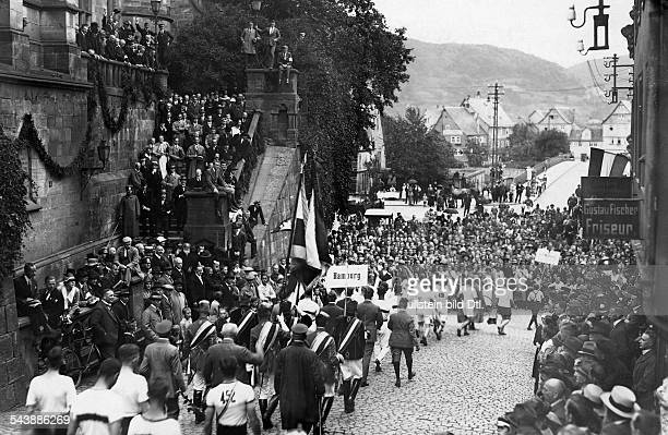 German Empire Hesse People's State Parade of the university of Marburg at the 'academical Olympics' Photographer Gerhard Riebicke Published by...