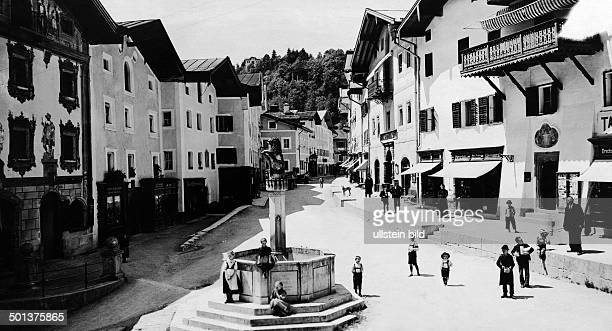 Berchtesgaden the market place undated probably around 1910 Photographer Haeckel