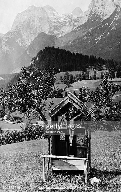 Berchtesgaden wayside shrine undated probably around 1910 Photographer Haeckel