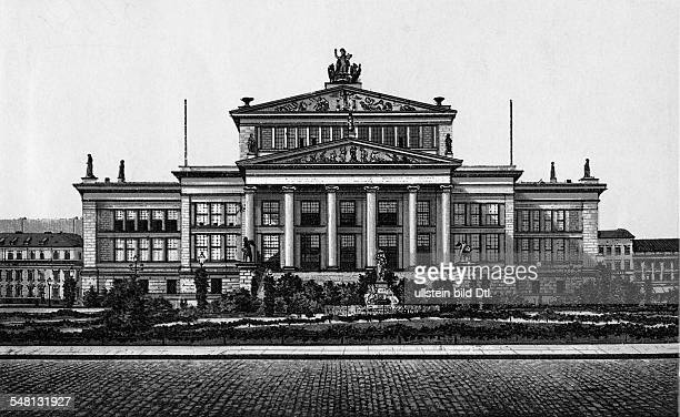 German Empire Kingdom Prussia Berlin Berlin Exterior view of the former Theater constructed by Karl Friedrich Schinkel; today the Konzerthaus at the...