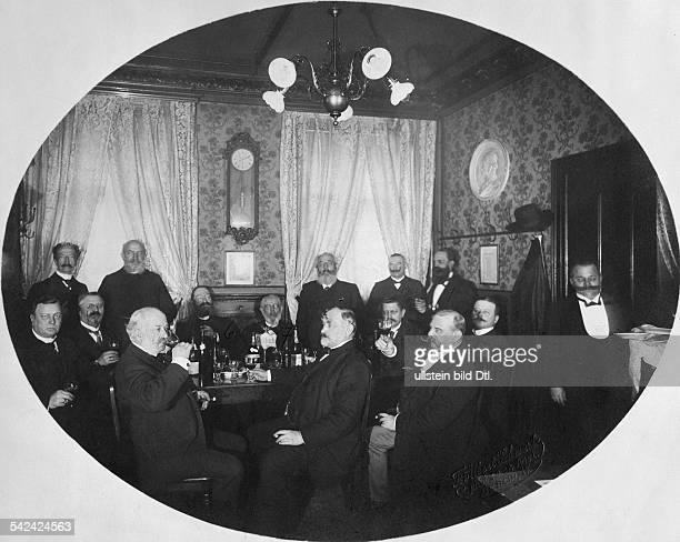 German Empire Kingdom Prussia Berlin Berlin taverns of old Berlin regular's table at the 'Raehmel' Gendarmenmarktnow Nadolny Charlottenstrasse1...