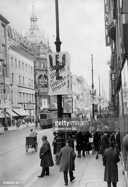 German Empire Kingdom Prussia Berlin Berlin View of the busy Leipziger Strasse during the advertisement week from 2704 Photographer Herbert Hoffmann...