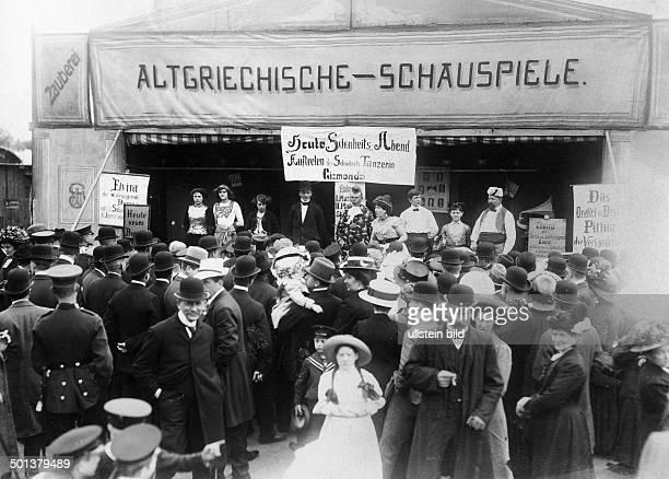 Fairground showing funfair attraction 1910 Photographer Haeckel