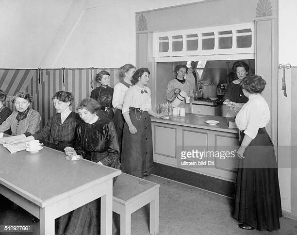 German Empire Kingdom Prussia Berlin Kreuzberg The store Kaufhaus RM MaassenFemale employees in the cantinee for women in the store about 1913...