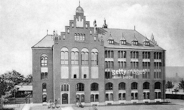 German Empire Kingdom Prussia Berlin Pathological Institute at the Charité workplace of Prof Rudolf Virchow exterior view historic postcard ca 1900...