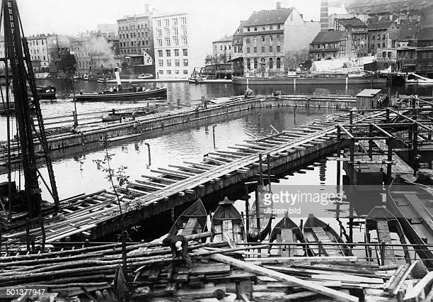 Spittelmarkt construction of the underground railway around 1906 Photographer Haeckel