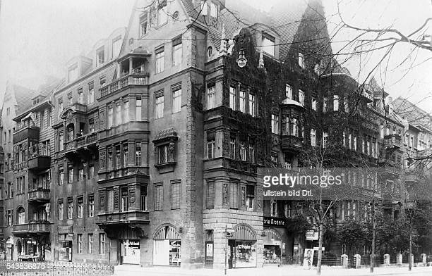 German Empire Kingdom Prussia Brandenburg Province Berlin House at the street Landshuter Strasse / Haberlandstrasse in Berlin Schoeneberg the...