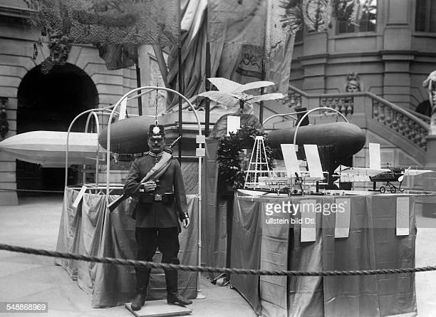 German Empire Kingdom Prussia Brandenburg Province Berlin Zeughaus Berlin Models of airships at the halation of the Zeughaus