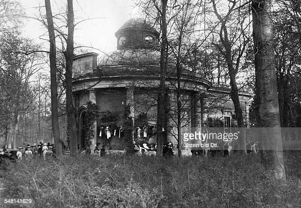 German Empire Kingdom Prussia Brandenburg Province Potsdam The Antique Temple in the Sanssouci Park ca 1910 Photographer Walter Gircke Vintage...