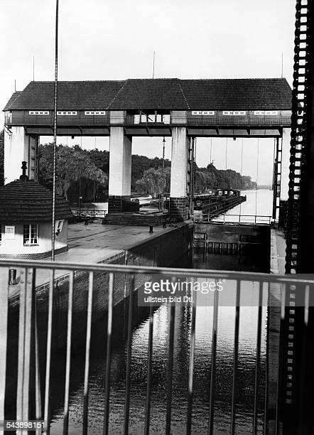 German Empire Kingdom Prussia - Brandenburg Provinz - : Brandenburg-Berlin Teltow canal: Kleinmachnow lock - Photographer: Heinz Fremke- Published...