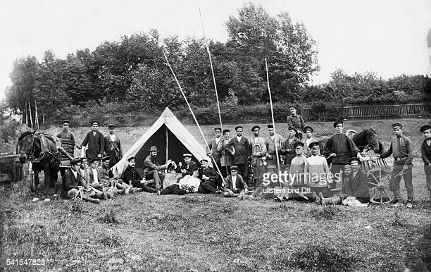 German Empire Kingdom Prussia Ostpreussen Provinz Wirballen at the GermanRussian border Cossack camp undatedVintage property of ullstein bild