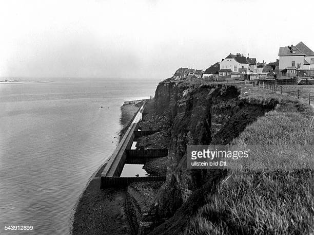 German Empire Kingdom Prussia SchleswigHolstein Province Helgoland Steep coast in the Eastern part of the island 1931 Photographer Franz Schensky...