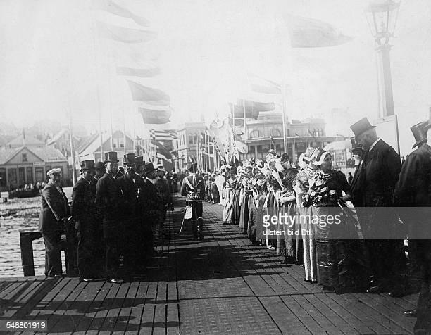 German Empire Kingdom Prussia SchleswigHolstein Province Helgoland Wilhelm II German Emperor King of Prussia *27011859 Citizens of Helgoland in...