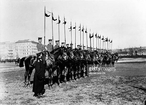 German Empire military 1 GardeDragoner Regiment in Berlin Kreuzberg dragoons exercising on horses 1905