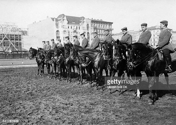 German Empire military 1st Garde Draggon Regiment in Berlin Kreuzberg recruits exercising on horses 1905Vintage property of ullstein bild