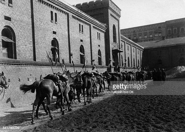 German Empire military 1st Garde Draggon Regiment in Berlin Kreuzberg dragoons on horses 1905Vintage property of ullstein bild