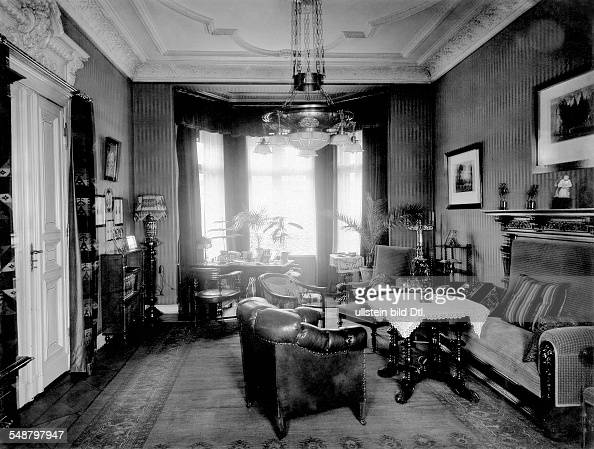 marvelous old fashioned living room | German Empire, old fashioned living room with furniture ...