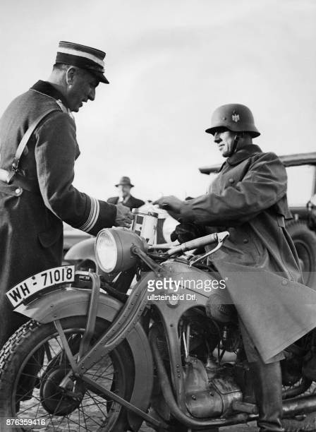 German engineer Reich Minister for Armaments and Ammunition the founder of Organisation Todt The Inspector General Fritz Todt collecting on the day...